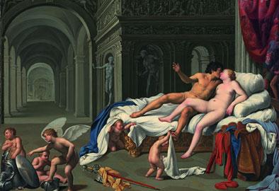 Carlo Saraceni, Venere e Marte, Madrid, Carmen Thyssen -Bornemisza Collection, on loan Thyssen –Bornemisza Museum, Olio su rame, cm 39,5 x 55
