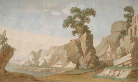 Marcona, Alessandro Dalla Nave, Antonio Villa, 1794, Scena di paese, Dozza Imolese