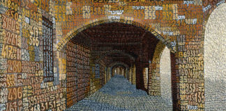 Portico dei palpiti semantici, 2000 Resine e tempere