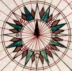 Rosa dei Venti del cartografo Battista Agnese
