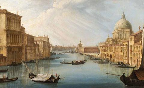 Pietro Bellotti, L'ingresso del Canal Grande con la basilica della Salute
