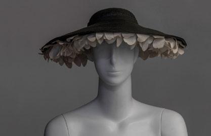 Christian Dior, Cappello, 1949-1950, acquisizione: dono Simonetta Ginori Guidi