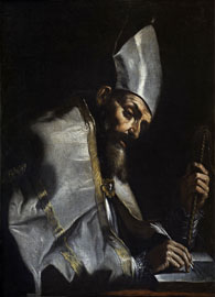 Mattia Preti, Sant'Ambrogio, 1670-1676, Olio su tela, cm 102 x 75