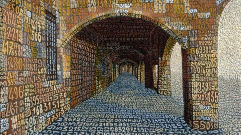 Tobia Ravà, Portico dei palpiti semantici, 2000  Resine e tempere