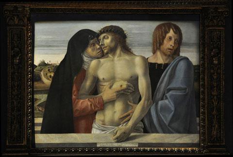 Giovanni Bellini, Pietà, Pinacoteca di Brera. Foto di Giacomo Gatti