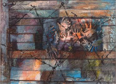 Eva Fischer, Addio, olio su tela – anno 1949 - cm. 54x73