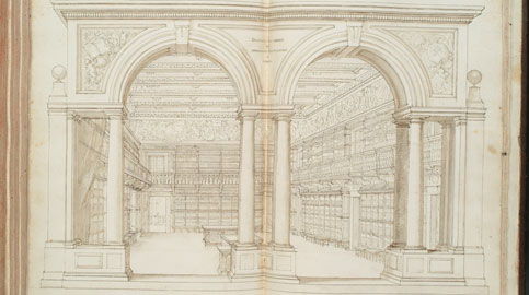 Diacinto Maria Marmi, La Biblioteca Medicea Palatina, 1685, Firenze, Biblioteca Nazionale Centrale