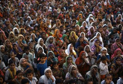 Manifestazione per Indira Gandhi. Uttar Pradesh, 1978