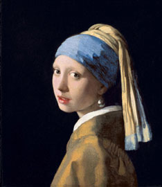 Jan Vermeer, La ragazza con l'orecchino di perla, 1665 circa olio su tela, cm 44,5 x 39 L'Aia, Royal Picture Gallery Mauritshuis