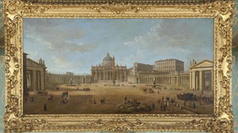 G. van Wittel Basilica e Piazza San Pietro, XVII secolo Olio su tela, 74x127 cm Norfolk, Holkham Hall