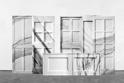 Ai Weiwei Born Beijing, 1957 Marble Doors, 2007 Marble 210 x 80 x 6 cm / 82.6 x 31.5 x 2.5 in, each 506 kgs