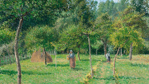 Camille Pissarro La Verger à Eragny, 1896 olio su tela 54,6 x 65,4 cm Carmen Thyssen-Bornemisza Collection, on loan at the Thyssen-Bornemisza Museum, Madrid