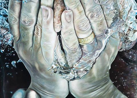 Nicola Rotiroti, Mani - Olio su tela - 150x180 cm - 2011