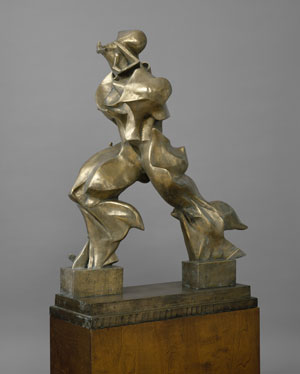 Umberto Boccioni, Unique Forms of Continuity in Space (Forme uniche della continuità nello spazio), 1913 (cast 1949), Bronze, 121.3 x 88.9 x 40 cm The Metropolitan Museum of Art, New York, Bequest of Lydia Winston Malbin, 1989 © The Metropolitan Museum of Art - Image Source: Art Resource, New York