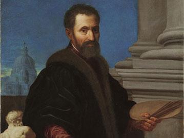 Domenico Cresti detto il Il Passignano, (Passignano 1559 - Firenze 1638), Ritratto di Michelangelo Buonarroti, Inizi del XVII secolo, Olio su tela, Bergamo, Enrico Lumina