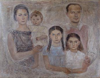 Massimo Campigli: La famiglia dell'architetto Gio Ponti, 1934, olio su tela