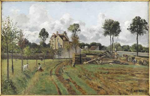 Camille Pissarro Allée de la Tour-du-Jongleur et maison de M. Musy, Louveciennes