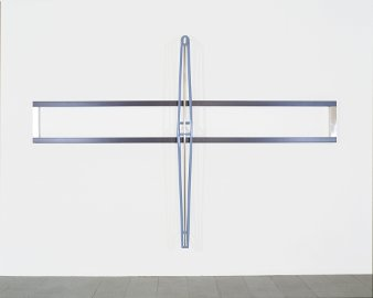 "Gianni Piacentino ""CROSS RACE 1 (H.R.V.F.W.)"" 1999-2000 Various materials cm. 320 x 435,6 x 35"