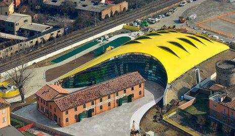 Museo casa Enzo Ferrari, vista aerea