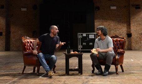 """Il regista Andrea Cigni e """"Mr Slook"""" Fumitoshi Miyamoto (Ph. Roberto Ricci)"""