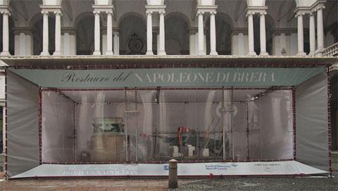 Laboratorio di restauro del Napoleone di Canova