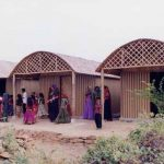 Paper Log House, 2001, Bhuj, India, Photos by Kartikeya Shodhan