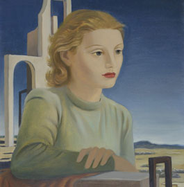 Ruggero Alfredo Michahelles: Figura, 1937, olio su tela, cm 55 x 46