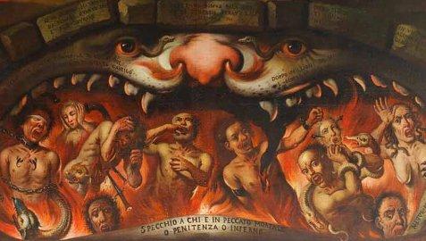 Ambito lombardo (?), Pala delle anime del Purgatorio (particolare), secondo quarto sec. XVII
