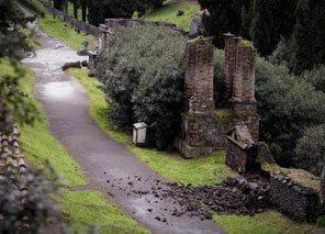 Pompei, muro crollato nella necropoli di Porta Nocera