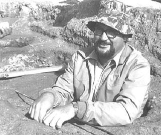 Carlo Tronchetti sullo scavo