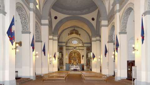 Siena, Chiesa Santo Spirito, interno