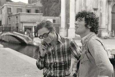 Pier Paolo Pasolini e Ninetto Davoli, Venezia, 1970