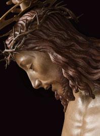Dopo il restauro, il volto del Cristo, Benedetto da Maiano, antecedente il 1497, courtesy Opera di Santa maria del Fiore, foto Antonio Quattrone