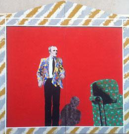 """Piero Bolla, """"L'ombra dell'attore"""", 1981 - 260 x 278 - pigmenti su laminato"""