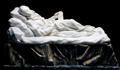 Pierre Legros, San Stanislao Kostka, 1703 circa, marmo, alabastro, altezza 31 cm. Roma, Fondazione Dino ed Ernesta Santarelli
