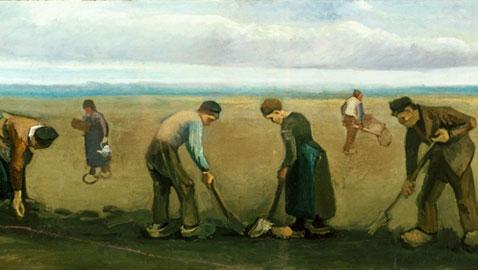 Vincent van Gogh, Contadini che piantano patate, 1884