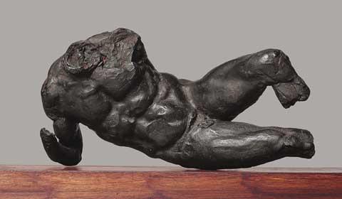 Michelangelo, Dio fluviale, 1525 circa; sego, pece, cera, trementina; lunghezza cm 22; Firenze, Casa Buonarroti, inv. 542