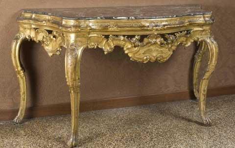 Tavolo da parete, Veneto seconda metà del sec. XVIII, Galleria Palazzo Cini