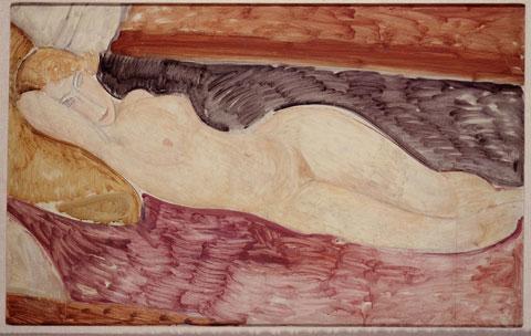 Amedeo Modigliani, Livorno 1884-Parigi 1920, Nudo sdraiato, 1918-1919, olio su tela, cm 76x116, 1962, acquisto alla Marlborough Gallery