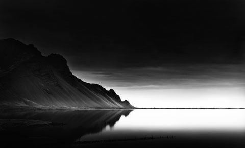 Artic Arrow, 2013 Iceland gelatine silver print selenium toned, edition of 9 cm. 58 x 35 matted and mounted on Museum board cm 80x 70