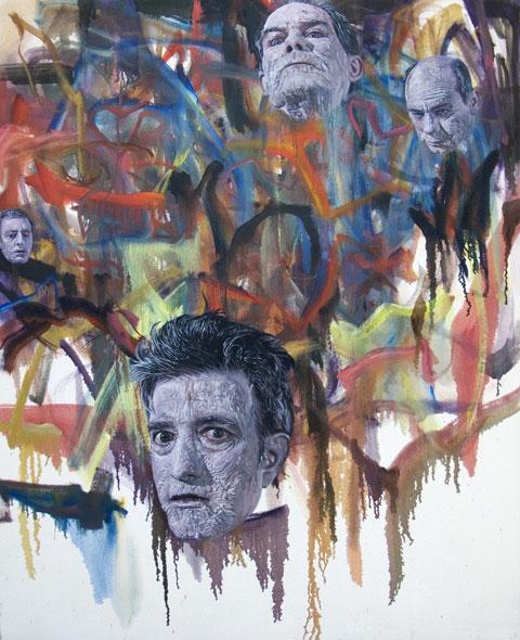 Jim Shaw, Zombie Painting #3, 2007, Olio su pannello, Courtesy dellâartista e Praz-Dellavade, Parigi