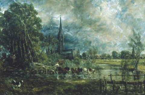John Constable, La cattedrale di Salisbury, 1829-1831