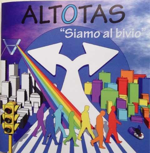 Siamo al bivio, copertina disco degli Altotas