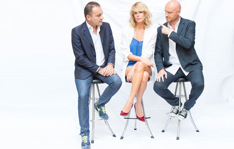 Alessia Marcuzzi, Angelo Baiguini e Rudy Zerbi