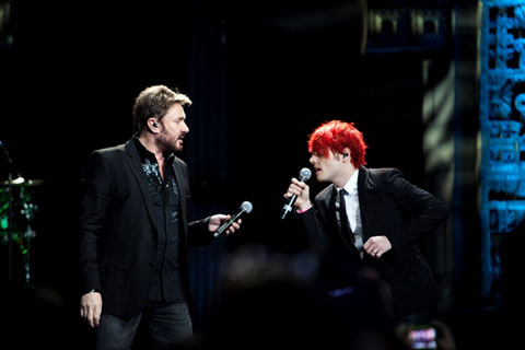 Simon Le Bon e Gerard Way