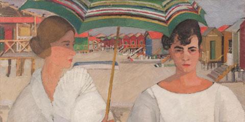 Moses Levy, Anna e l'amica, 1920, olio su tela, cm 52,5x73