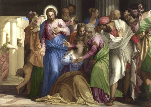 Paolo Veronese, Cristo e l'adultera, The National Gallery, London. Wynn Ellis Bequest