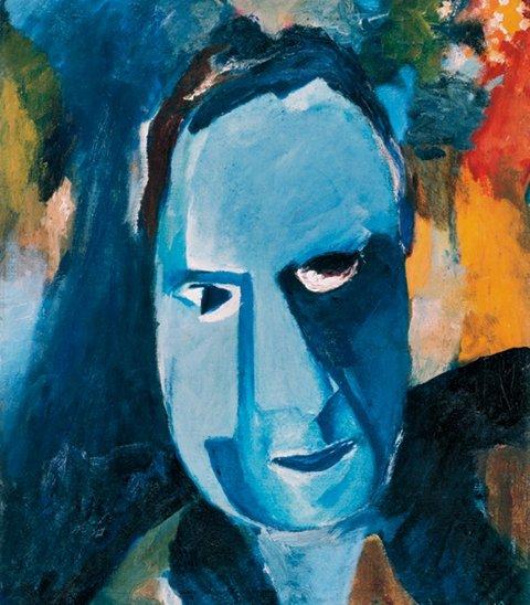 Hans Richter, Blauer Mann, 1917, Olio su tela, 61 x 48.5 cm, Kunsthaus Zürich, Donazione della Sig.ra Frida Richter