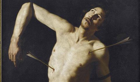 Scuola di Caravaggio, San Sebastiano (particolare)