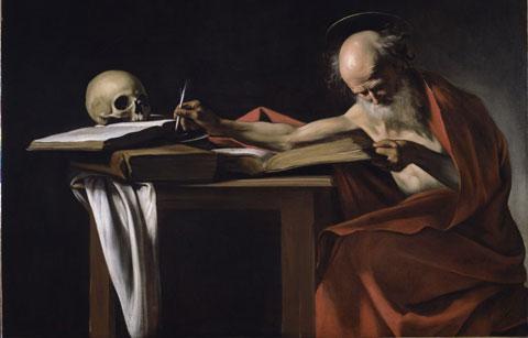 Caravaggio, San Girolamo, Olio su tela, Roma - Galleria Borghese